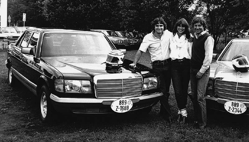 Nelson Piquet med 500SEL sedan