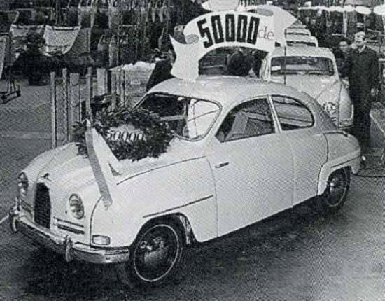 1958 hade man byggt 50 000 Saabar
