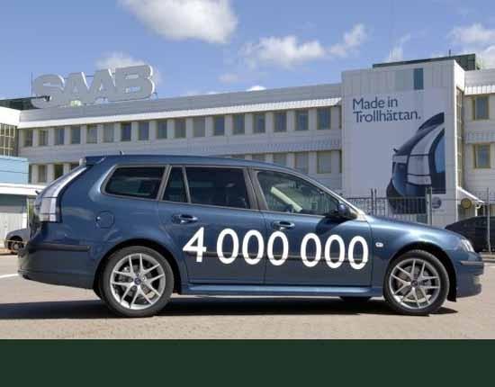 Och 2005, utan uppvaktning står en 9-3 Sportkombi utanför kontoret och är nummer 4 000 000.