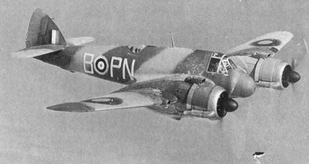 Bristol Beaufighter, originalet, byggdes mellan 1940 och 1946.
