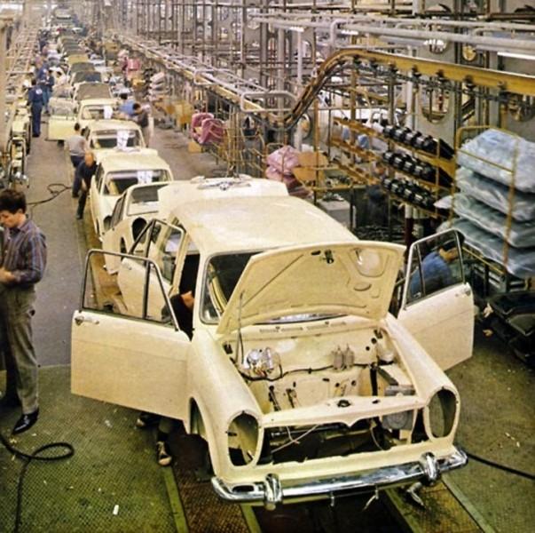 Främmande i Lambrettafabriken 1963