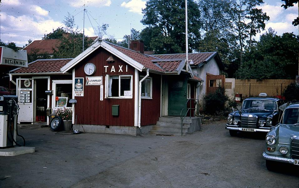 Taxistation och mack i ett - en samlingspunkt.