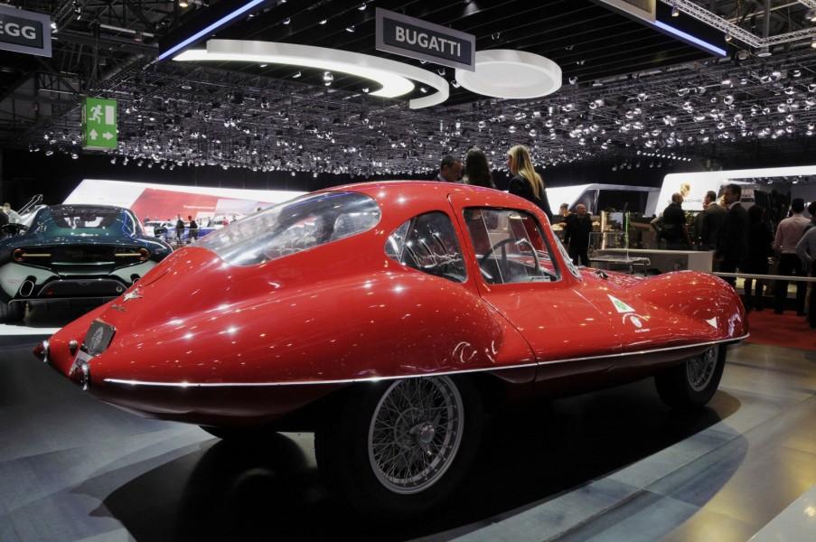 Världens enda Alfa Romeo Disco Volante C52 är på vift från Museo Alfa Romeo.