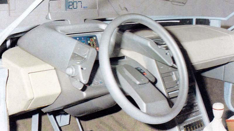 """""""Satelliter"""" enekrad ratt och... headup-display."""