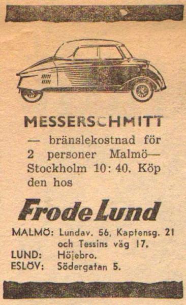 En liten annons för en liten bil.