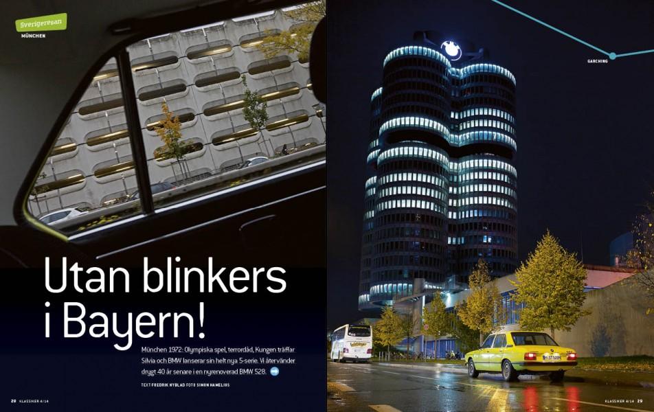 Med superrenoverad BMW 528 E12 genom München. En annorlunda resa...