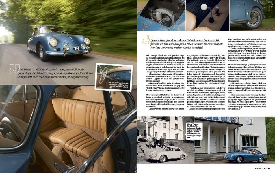 Prinsens Porsche – fortfarande med förlängd rattstång.