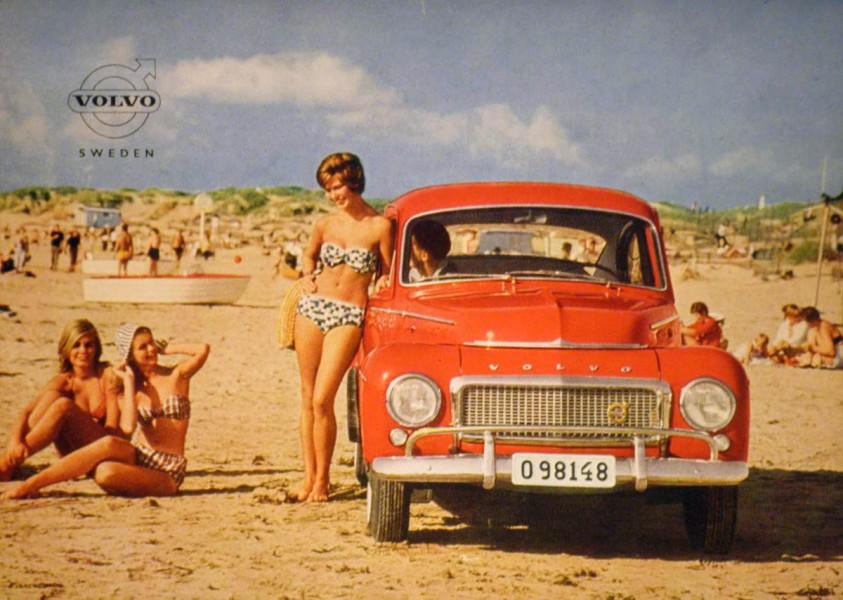 Med Volvo på stranden