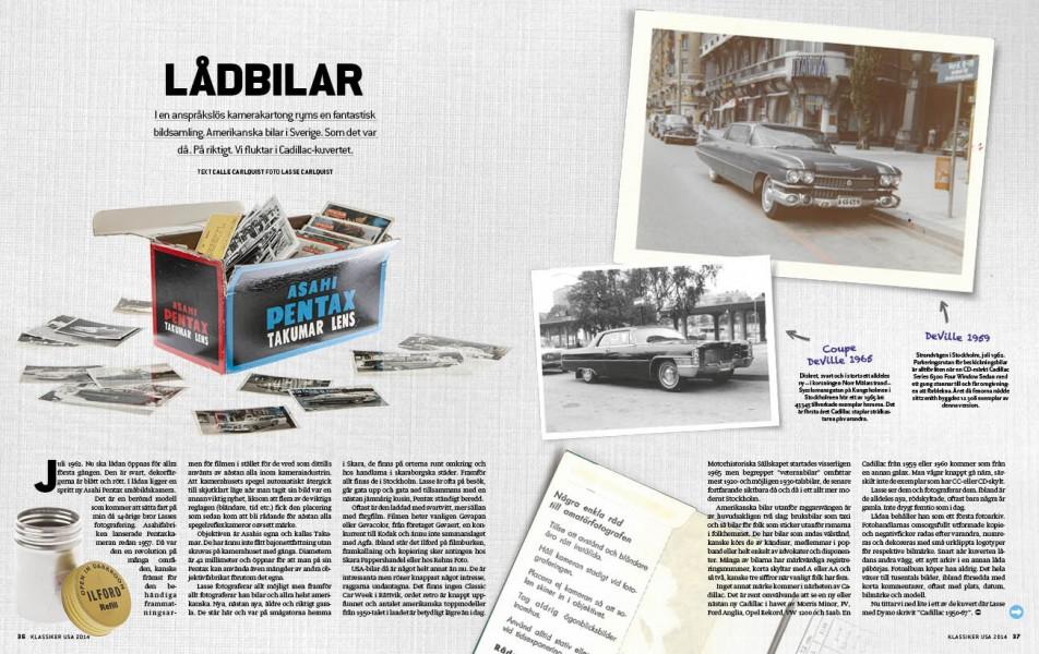 Unika bilder på svensksålda Cadillacs!
