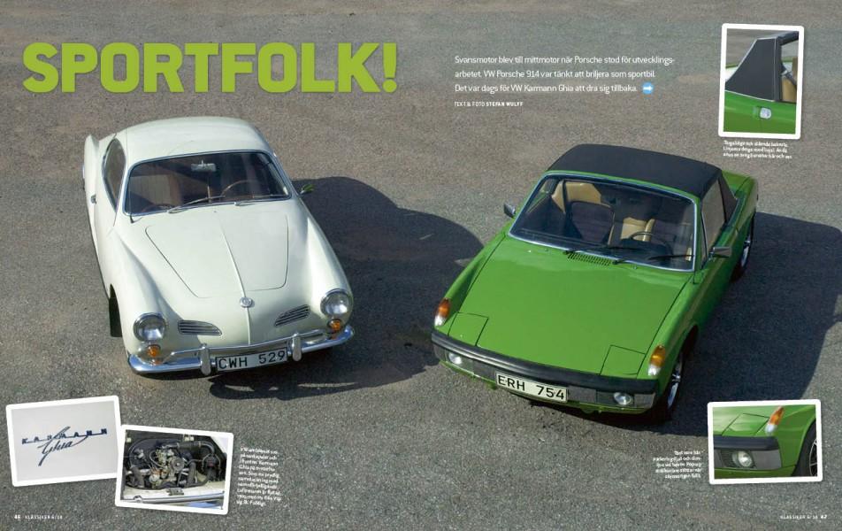 Släkt med fläkt – Karmann-Ghia och VW Porsche 914.