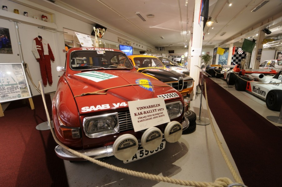 Stig Blomquists vinnarbil från KAK-rallyt 1971.
