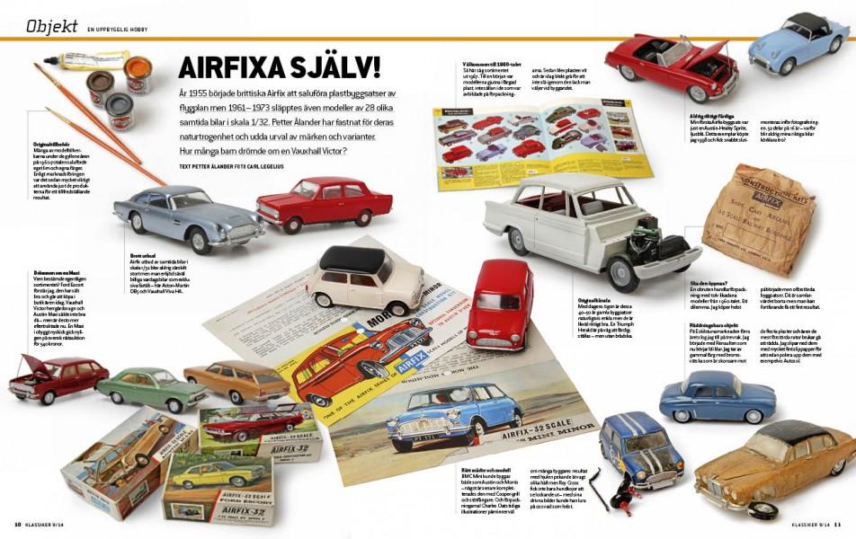 Airfix gjorde även bilar. Och vilket utbud!