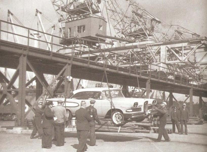 Först i Frihamnen 1957