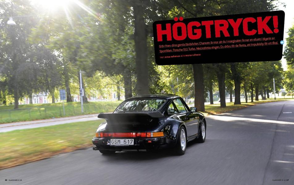 Ursinnig kraft i Porsche 911 Turbo.