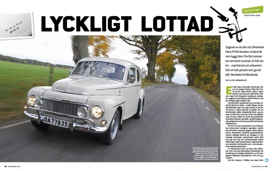 En av de allra sista Volvo 544 G som tillverkades renoverad. En av 26 bilar som lottades ut till personalen när modellen skulle läggas ned.
