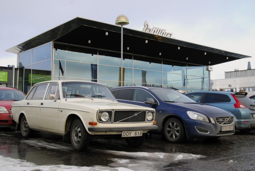 Många Volvo men få klassiska Volvo på Bilia i Segeltorp!