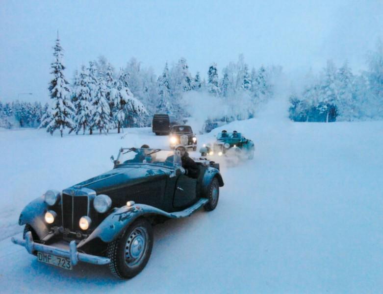 Med öppen MG till Finland - på vintern!
