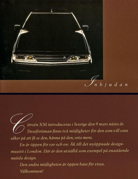 Citroën XM inbjudan