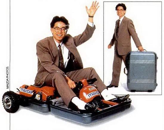 Mazdas motoriserade resväska