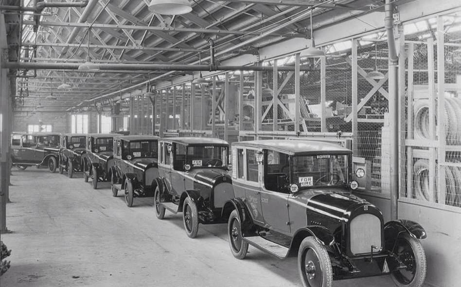 Klara bilar i Kalamazoo 1922