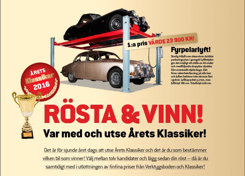 Rösta & vinn – nu ska Årets Klassiker utses!