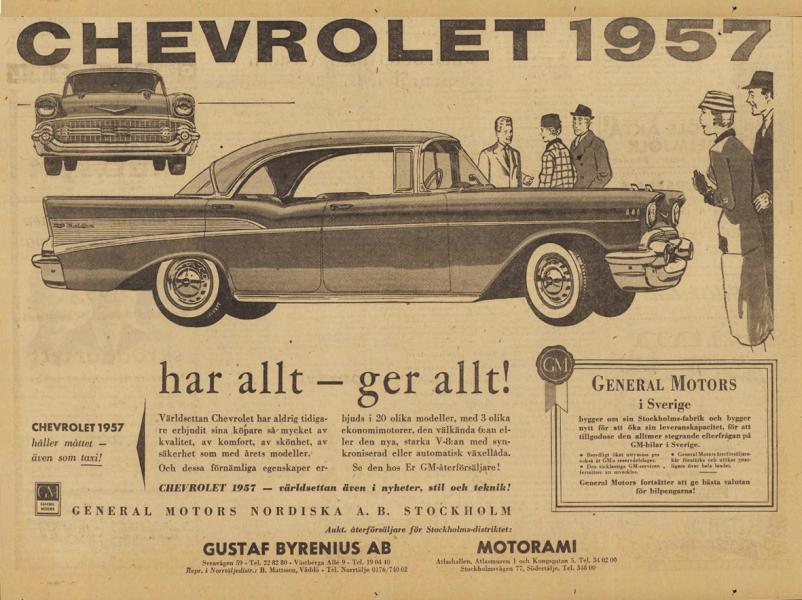 Chevrolet 1957: Har allt – ger allt!