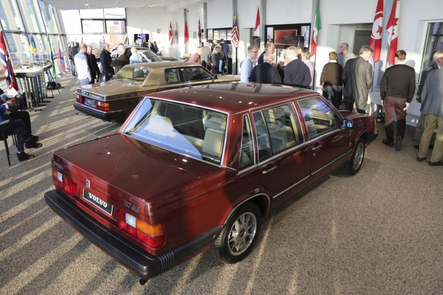 Volvo 760 GLE är en av de bilar som visas på Volvo Museums utställning om designern Jan Wilsgaard