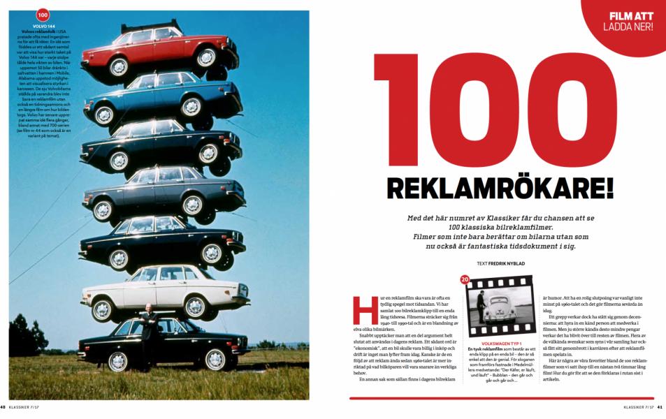 Bilreklamens 100 höjdare – bara i Klassiker!