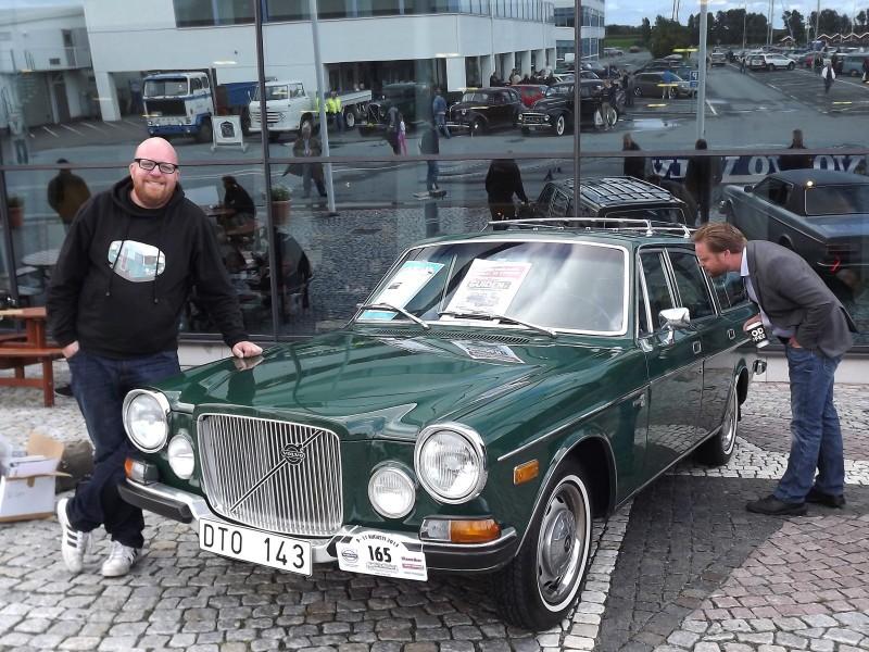 Klassikers Fredrik Nyblad är på plats med sin Volvo 165.