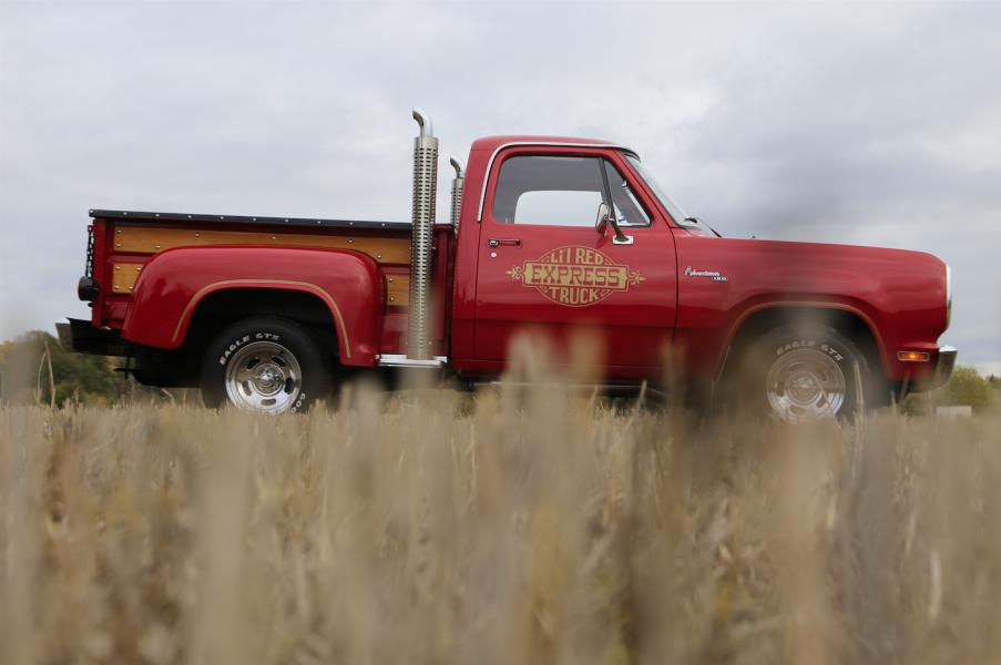 Dodge lilla röda
