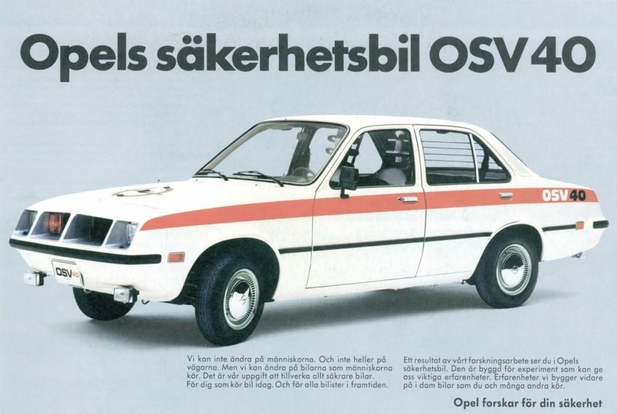 Säkerhetsbilen OSV 40 fick en broschyr på svenska, men att fråga om priset för bilen var ingen idé. Den var bara ett experiment.