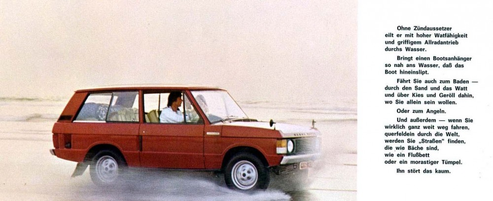Range Rover på tyska