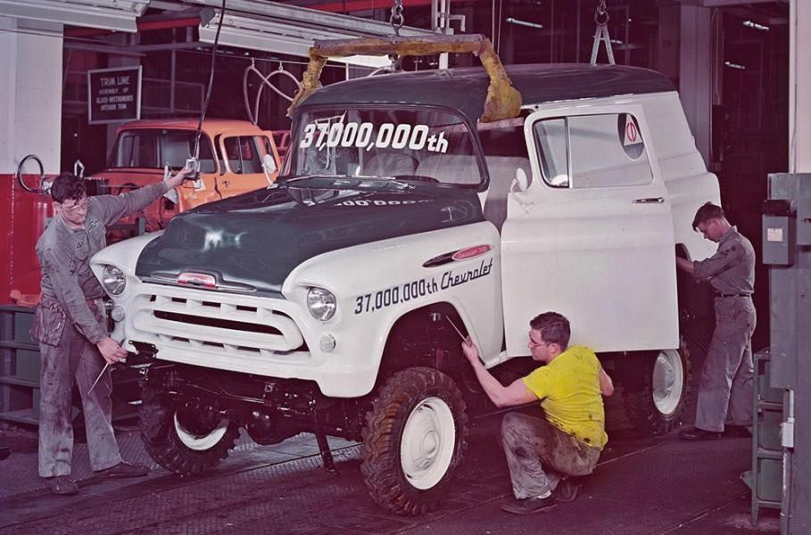Jubileumspecial hos Chevrolet 1957