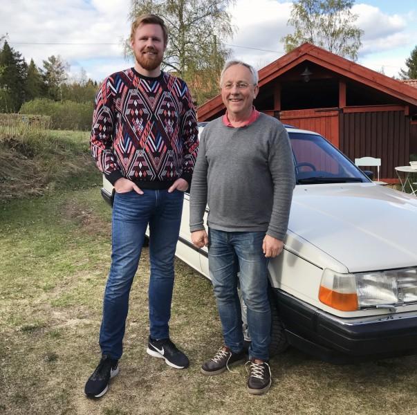 Calle Wickberg blev den som slog till på Claes Tingvalls Volvo 760 GLE.