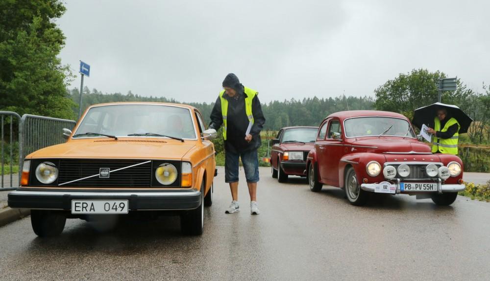 Lite regn stoppar inte en Volvo!