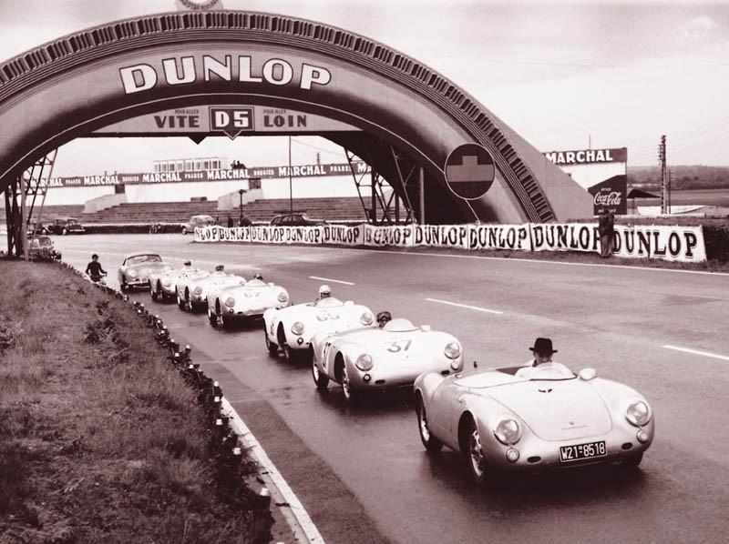 Porscheparad på Le Mans 1953