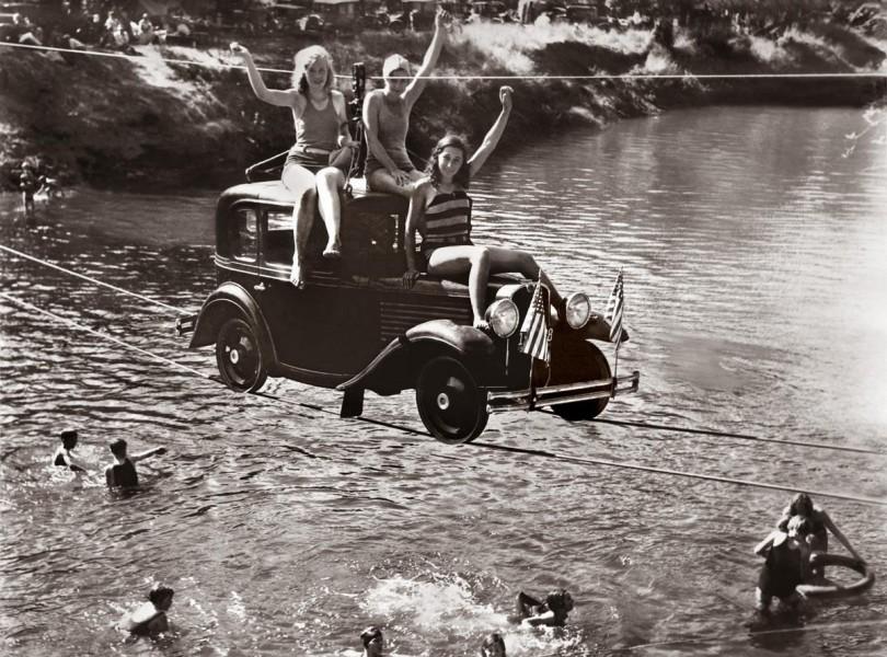 Bilfärjan över Pudding River