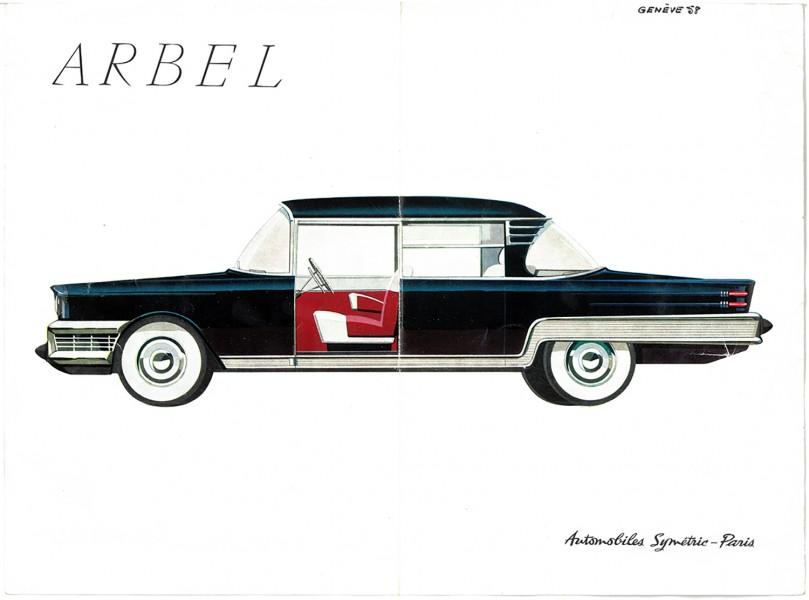 Den atomdrivna lyxbilen ARBEL – så ser den ut. En av många bilar som det pratas i Studio Klassiker avsnitt 15.