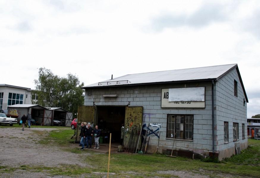 Utförsäljning i Berras bilverkstad
