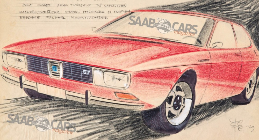 Läcker skiss visar okänd GT-version av Saab 99