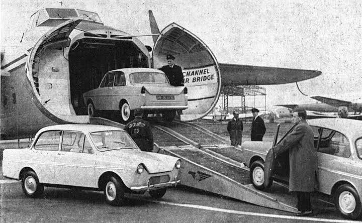 På väg till London 1958