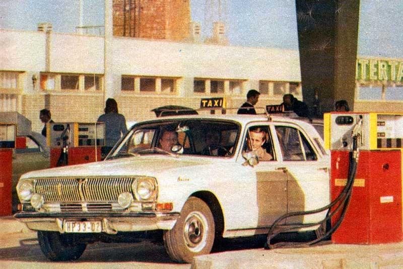 Volga vid pumpen