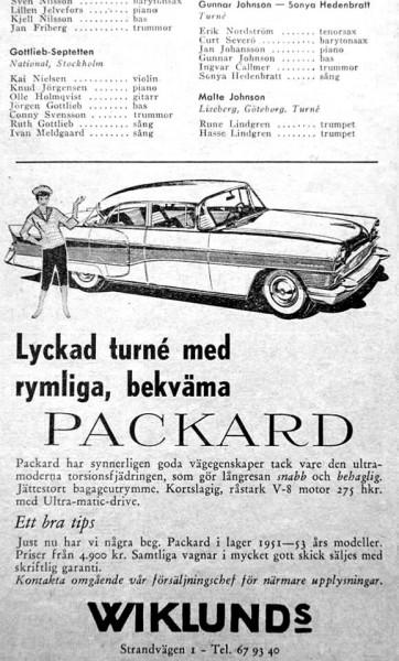 På turné med Packard 1955