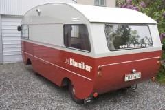 Husbilen dekalerad. Fantom till Nyköping