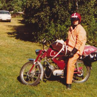 15 årsmopeden. Mustang super TT årsmodell 1970