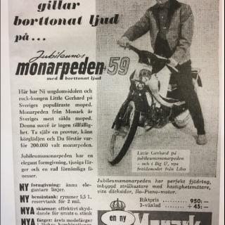 Monark monarped jubileum 1959:a. Beteckning 349F