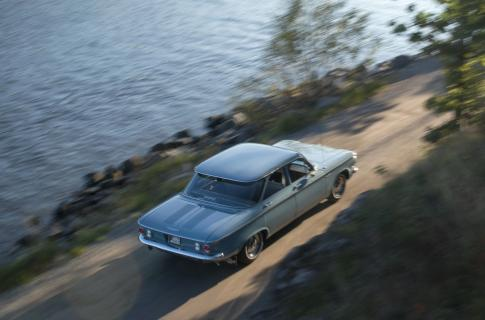Chevrolet Corvair 1961. Den byggdes i GM:s fabrik i Köpenhamn och såldes ny i Motala.