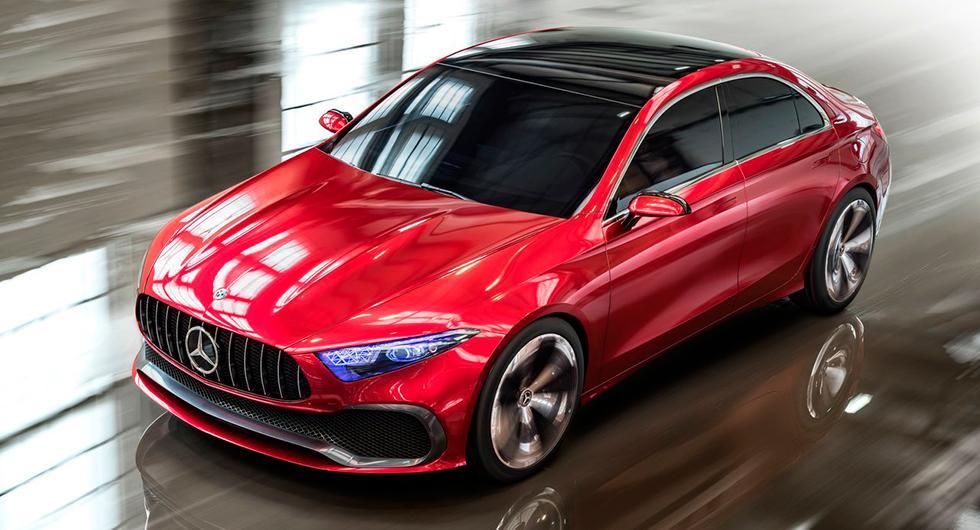 Mercedes A-klass koncept från 2017.