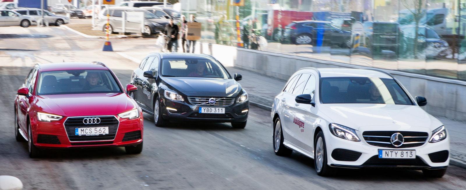 """Ingen av bilarna kom upp i """"0,6 liter milen"""" under testet, ett gott betyg för så kraftfulla modeller."""