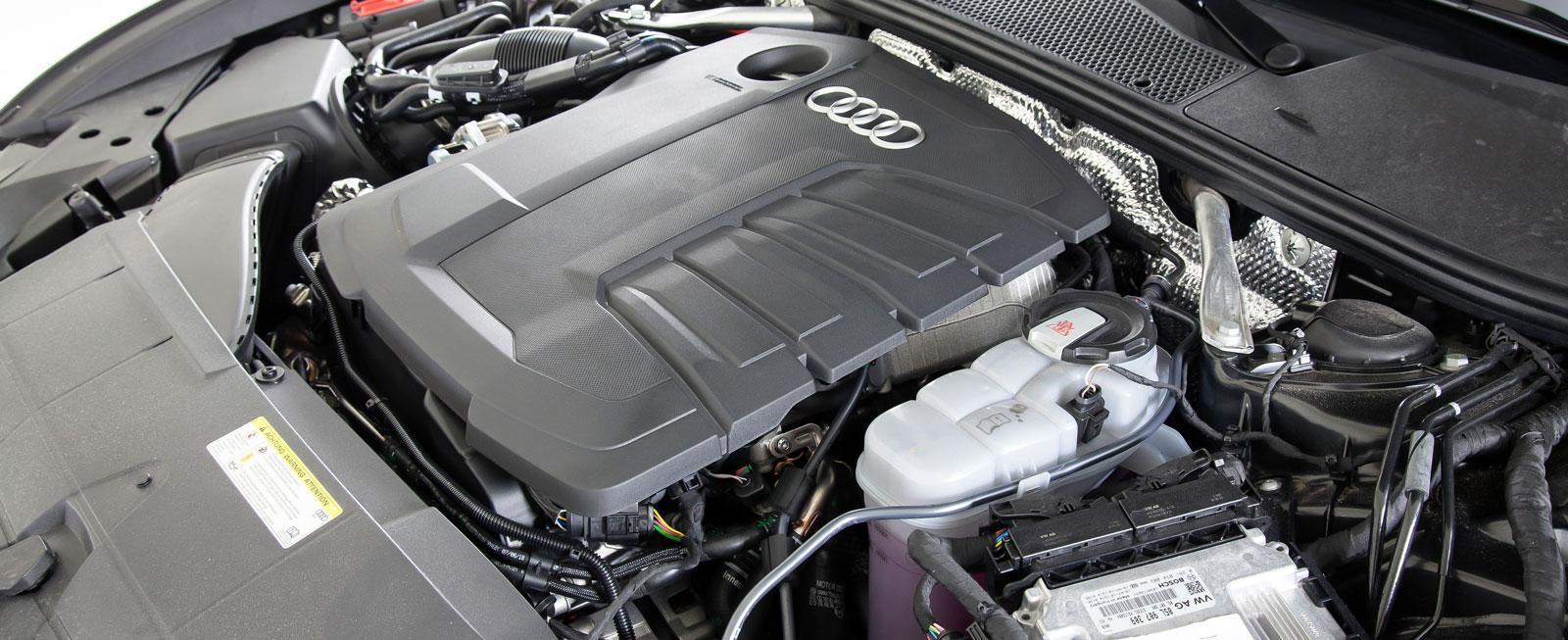 Den bekanta TDI-motorn har nu 204 hk och är en fullträff i gångkultur och ljudnivå. Dessutom är den snålast i testtrion.